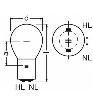 SIG 1210 10-10W 12V BA20d