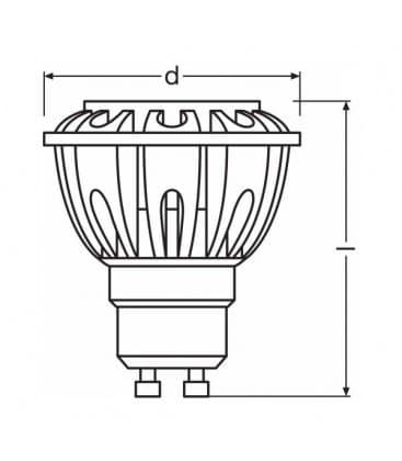 LED Parathom PRO ADV Par16 35 5.2W-930 WW 230V GU10 36D Dimmerabile