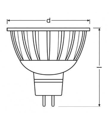 LED Parathom PRO ADV 20 5W WW 940 12V MR16 36D Dimmerabile