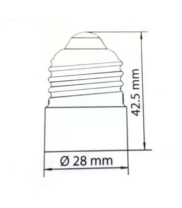 Adapteur de support de lampe de E27 a E14