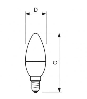 Master LEDcandle D 4-25W 230V WW B35 CL E14 Regulable