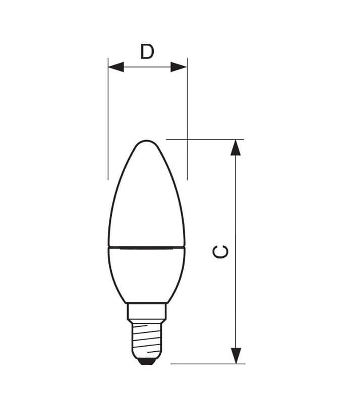 Philips Master Ledcandle D 4 25w 220v Ww B35 Cl E14 Dimm Classic