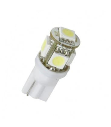 LED Retrofits  0.8W W5W 12V T10 5SMD 6000K
