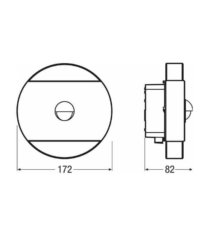 Noxlite Led WALL 12W Round Sensor GR IP44 41018 Osram | Motion