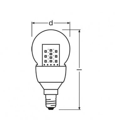 LED Parathom CL P 15 2.5W 220-240V WW E14
