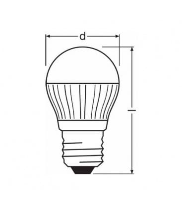 LED Parathom CL P 25 Advanced 4.5W 220-240V WW E27 Dimmable
