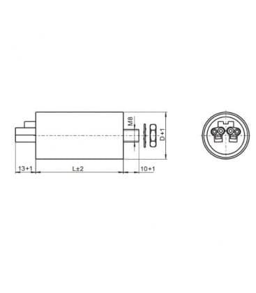 VS Capacitor 20mF 50/60Hz 250V 41001