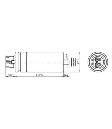 VS Capacitor  65mF 50/60Hz 280V 41069