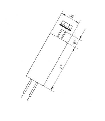 VS kondenzator  40mF 50/60Hz 250V 40977