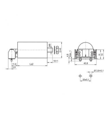 VS Capacitor 12mF 50/60Hz 250V 40944