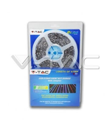 Bandes de LED 12V 5050 14,4W/m IP65   etanche blanc froid 1 cylindre/5m