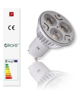 LED 3x1W CW GU10 85-240V Rampenlicht