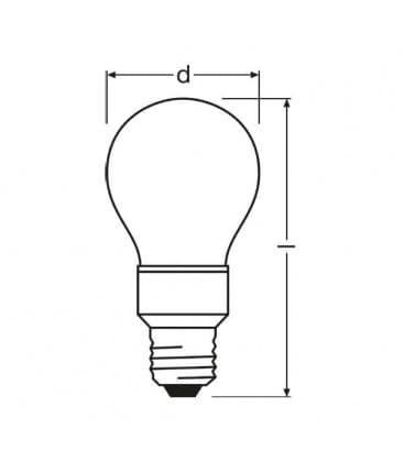 LED Star Deco Classic A RD 100-240V 1W E27 Rdeca