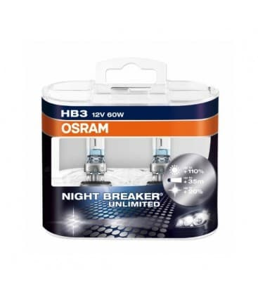 HB3 12V 60W 9005 NBU Night Breaker Unlimited - Double pack