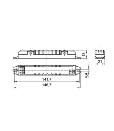 ELXs 124.905 1x18-24W TC-F-L, T5, T8, T-R5