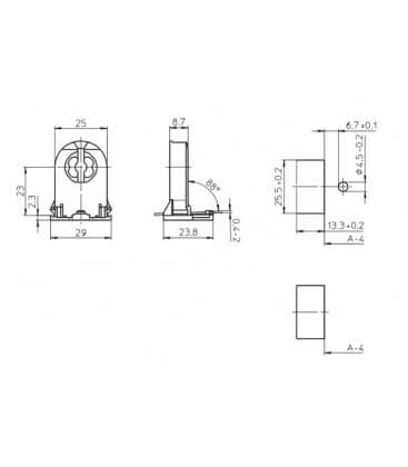 Portalampara G13 Hacer-aceptar 109330
