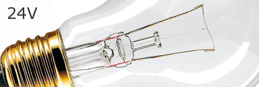 Klassische 24-V-Glühlampen