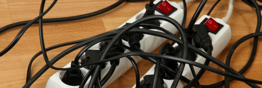 Stromverlängerungskabel mit einem Schalter